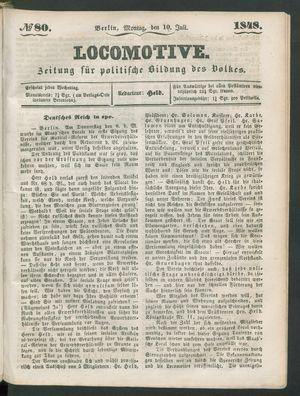 Locomotive vom 10.07.1848