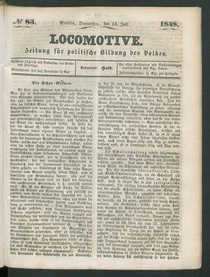 Locomotive on Jul 13, 1848