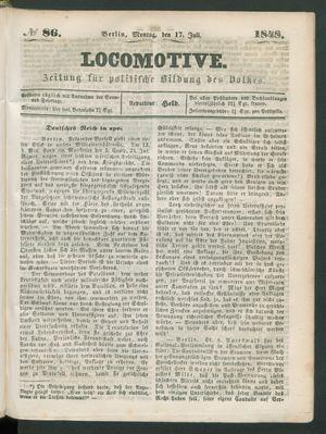 Locomotive vom 17.07.1848
