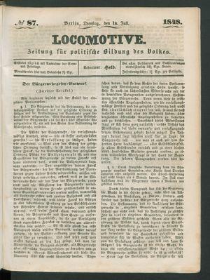 Locomotive vom 18.07.1848