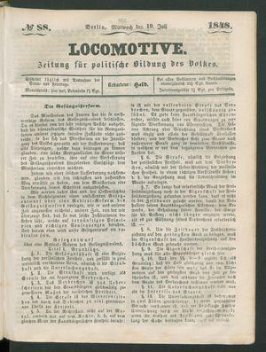 Locomotive vom 19.07.1848