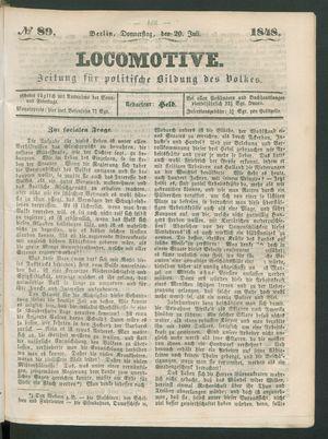 Locomotive vom 20.07.1848