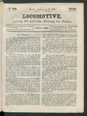 Locomotive vom 21.07.1848