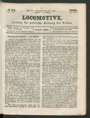 Locomotive vom 22.07.1848