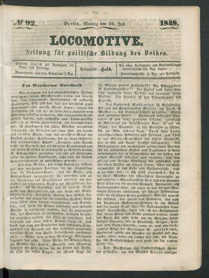 Locomotive vom 24.07.1848
