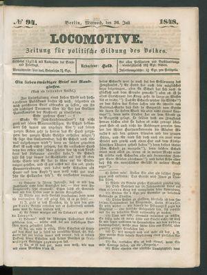 Locomotive on Jul 26, 1848