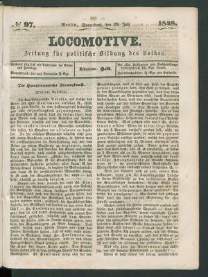 Locomotive vom 29.07.1848