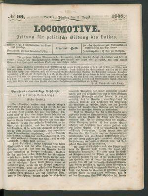 Locomotive vom 01.08.1848