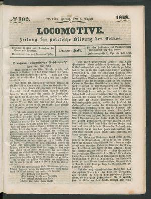 Locomotive on Aug 4, 1848