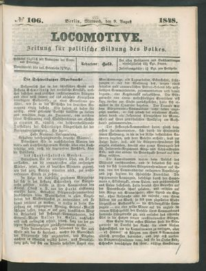 Locomotive vom 09.08.1848