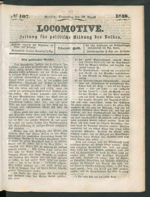 Locomotive vom 10.08.1848