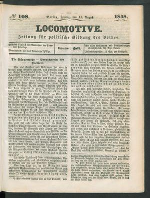 Locomotive vom 11.08.1848