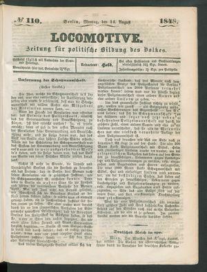 Locomotive vom 14.08.1848