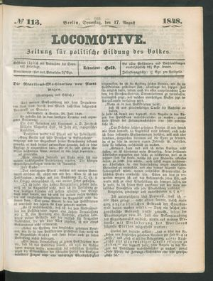 Locomotive vom 17.08.1848