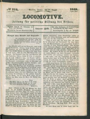Locomotive on Aug 18, 1848