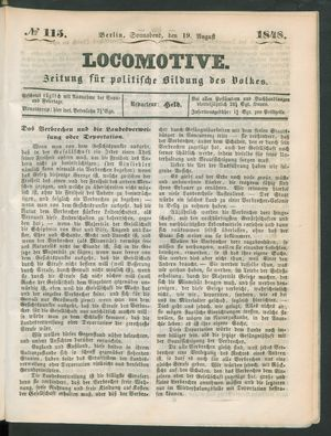 Locomotive vom 19.08.1848