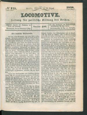 Locomotive vom 23.08.1848