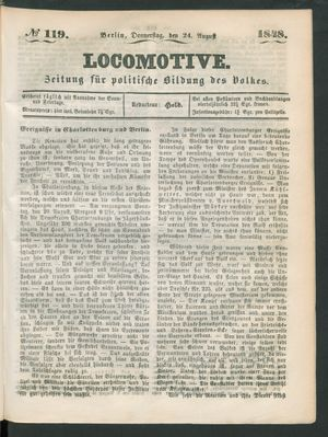 Locomotive vom 24.08.1848
