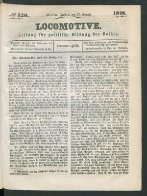 Locomotive on Aug 25, 1848