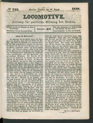 Locomotive vom 29.08.1848
