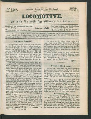 Locomotive vom 31.08.1848