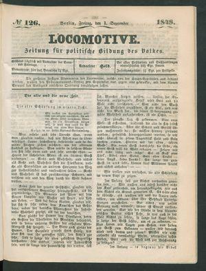 Locomotive vom 01.09.1848