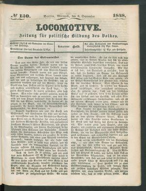 Locomotive vom 06.09.1848