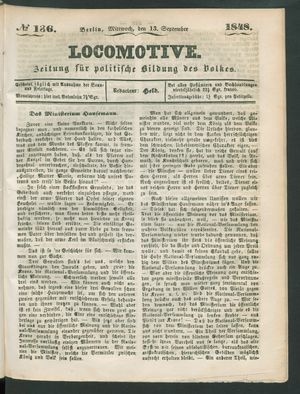 Locomotive vom 13.09.1848