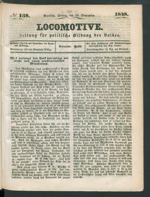 Locomotive vom 15.09.1848