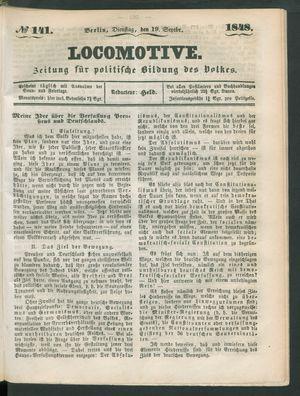 Locomotive on Sep 19, 1848