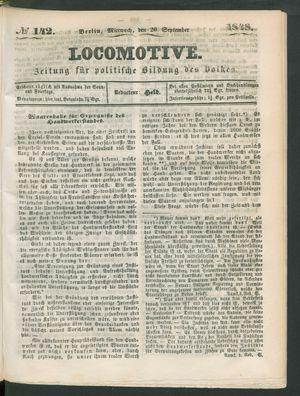 Locomotive on Sep 20, 1848