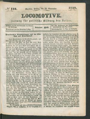Locomotive on Sep 22, 1848