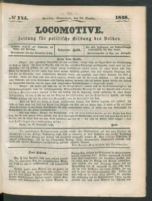 Locomotive vom 23.09.1848