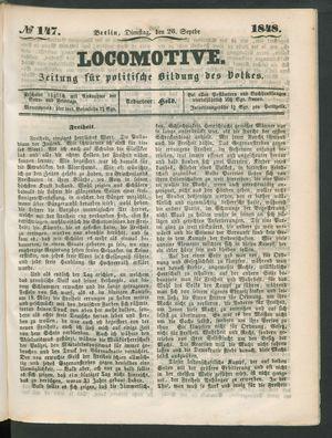 Locomotive vom 26.09.1848