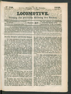 Locomotive on Sep 27, 1848
