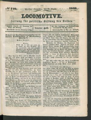 Locomotive vom 28.09.1848