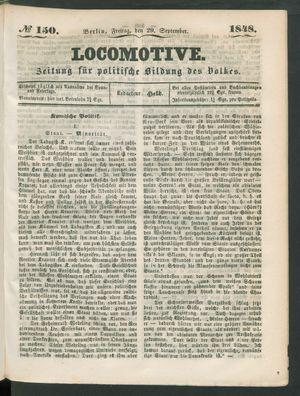 Locomotive vom 29.09.1848