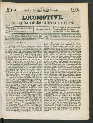 Locomotive vom 30.09.1848
