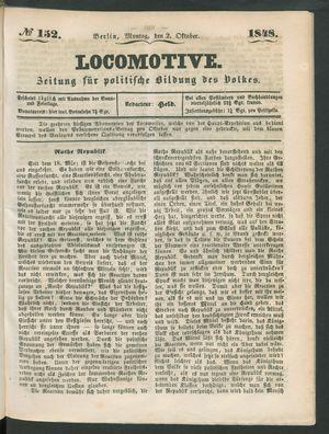 Locomotive vom 02.10.1848