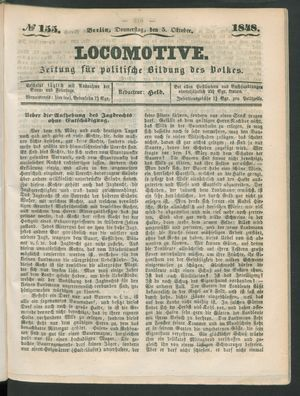 Locomotive vom 05.10.1848