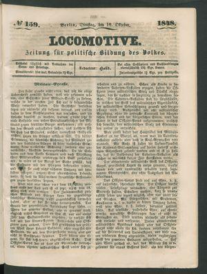 Locomotive vom 10.10.1848