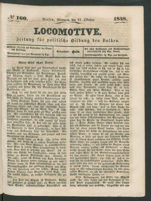 Locomotive vom 11.10.1848