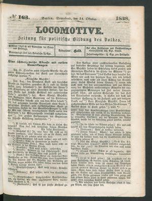 Locomotive vom 14.10.1848