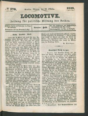 Locomotive vom 23.10.1848