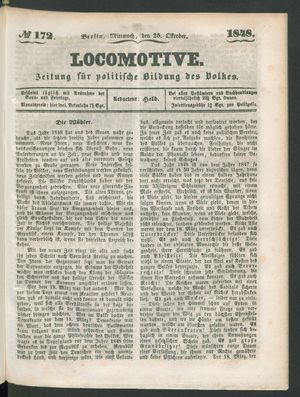 Locomotive vom 25.10.1848