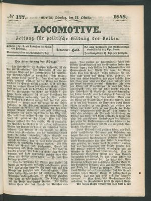 Locomotive vom 31.10.1848