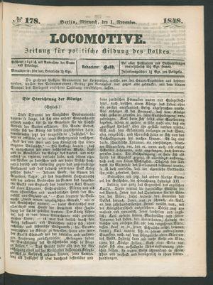 Locomotive vom 01.11.1848