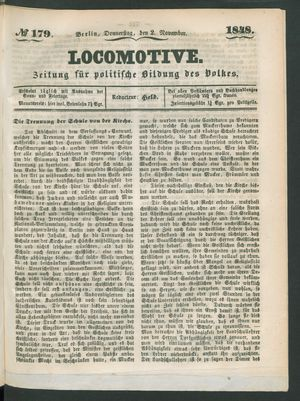 Locomotive vom 02.11.1848