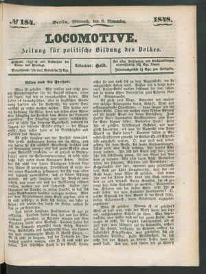 Locomotive vom 08.11.1848