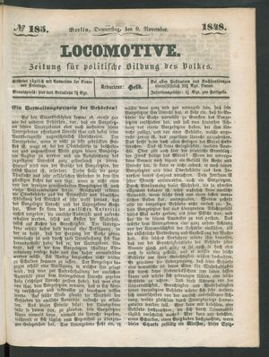 Locomotive vom 09.11.1848